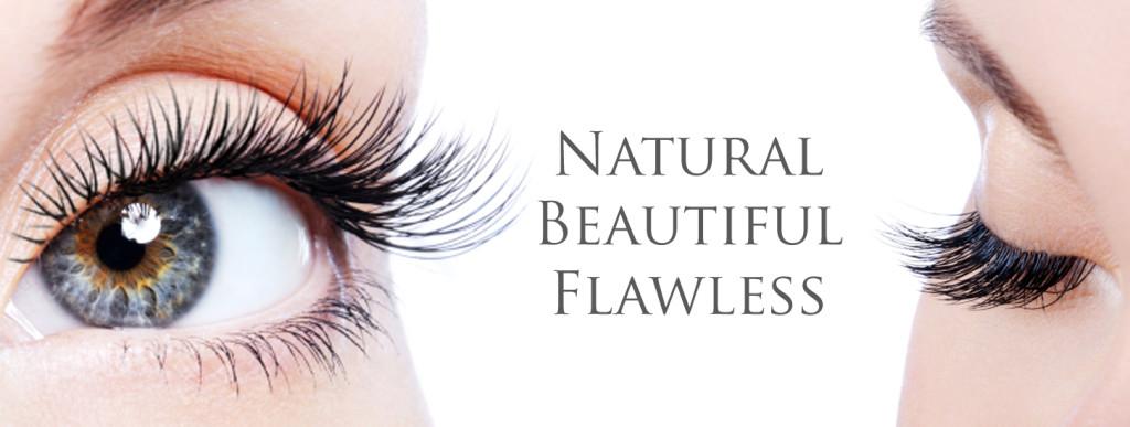 Flawless eyelash extensions