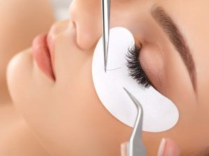 Silk Eyelash extension flawless faces